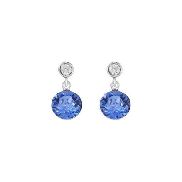 Ohrringe Swarovski® Kristalle & Edelstahl blau