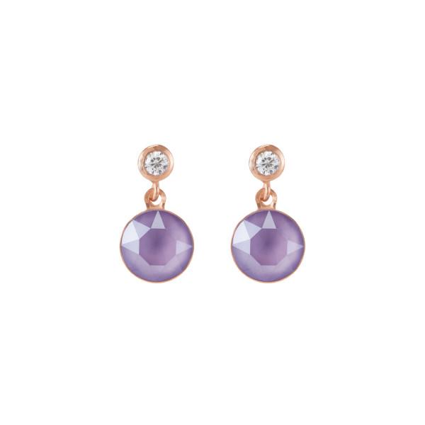 Ohrringe Swarovski® Kristalle & Edelstahl roségold flieder 0078_21-0829