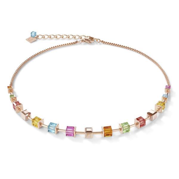 Halskette Swarovski® Kristalle & Edelstahl roségold multicolor 4996_10-1500
