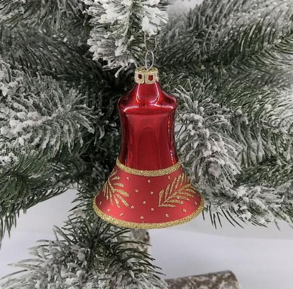Rot Glocken 5cm 4er Set