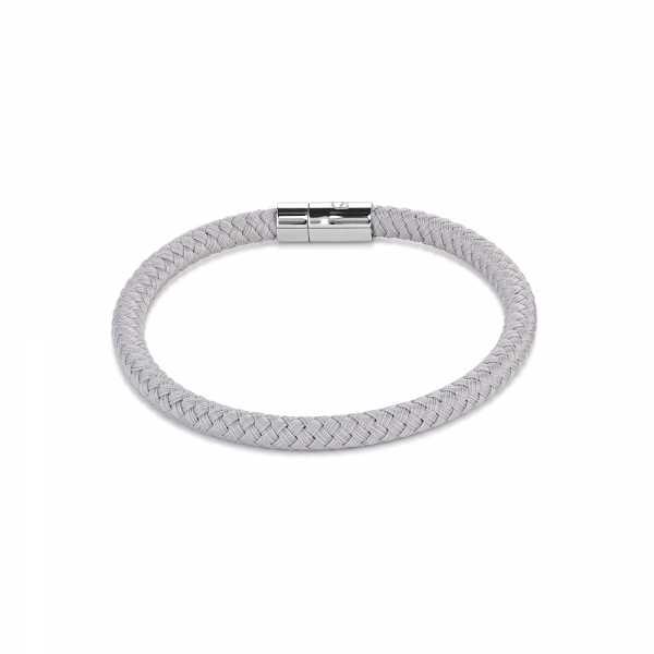 Armband Textil Magnetverschluß silbergrau