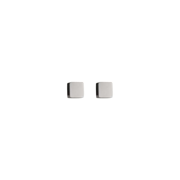 Ohrringe Quadrat Edelstahl silber