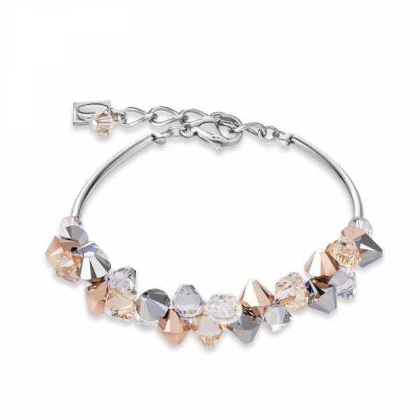 Armband Swarovski® Kristalle & Edelstahl roségold-silber