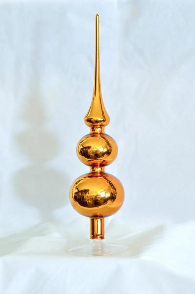 Gold Spitze mit 8er und 7er Kugel (H:31cm) GG_SP87