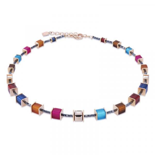 Halskette GeoCUBE® Swarovski® Polaris multicolor