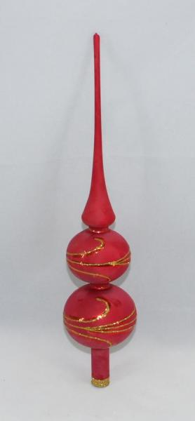 Eisrot Spitze mit 8er und 7er Kugel (H:32cm) ER_SP87