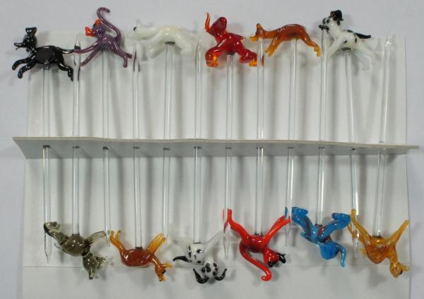 Bowlespieß Tiere (1) bunt sortiert 12er Set