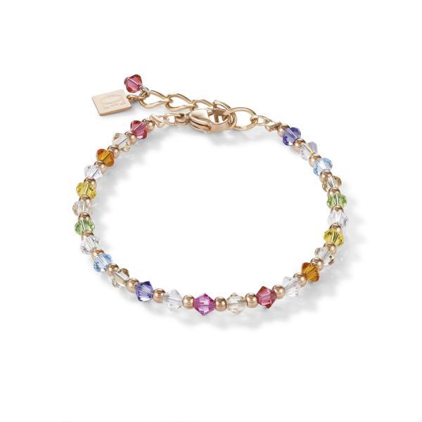 Armband Swarovski® Kristalle & Edelstahl roségold multicolor pastell 1