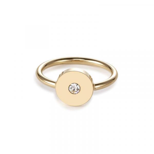 Ring SparklingCOINS Edelstahl gold 5000_40-1600_54
