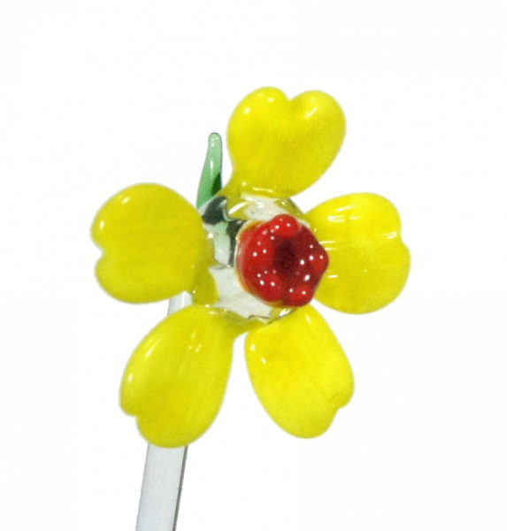 Bowlespieß gelbe Blume 12er Set GGM_BS_BG