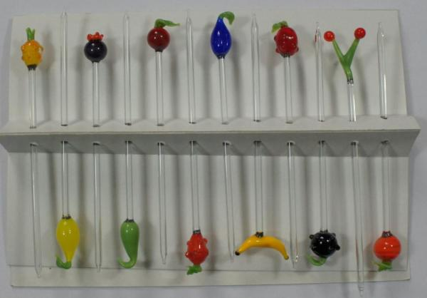 Bowlespieß Früchte bunt sortiert 12er Set