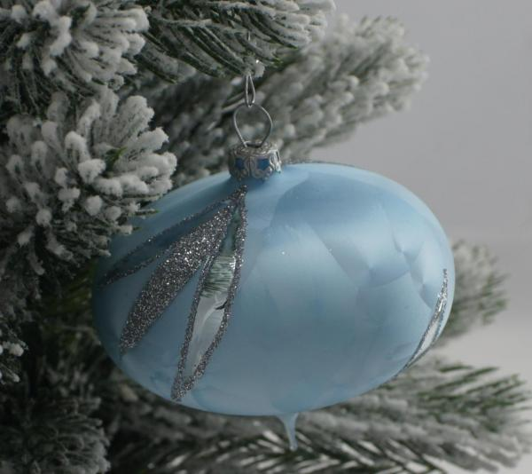 Eisblau Zwiebel 8cm