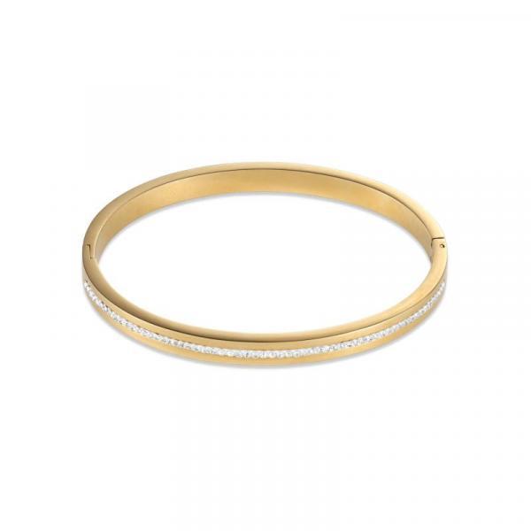 Armreif Edelstahl gold & Kristall Pavé Streifen kristall 0326_33-1800