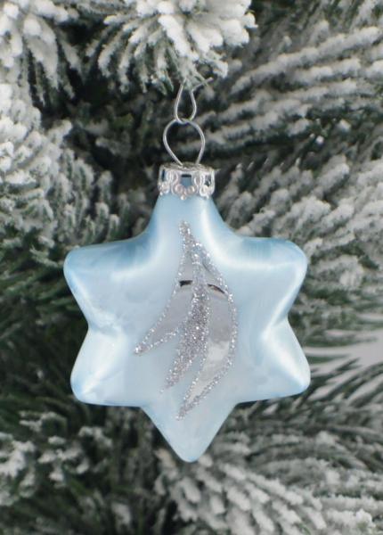 Eisblau Sterne 5cm 4er Set