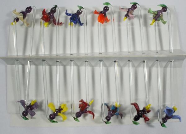 Bowlespieß Orchidee bunt sortiert 12er Set