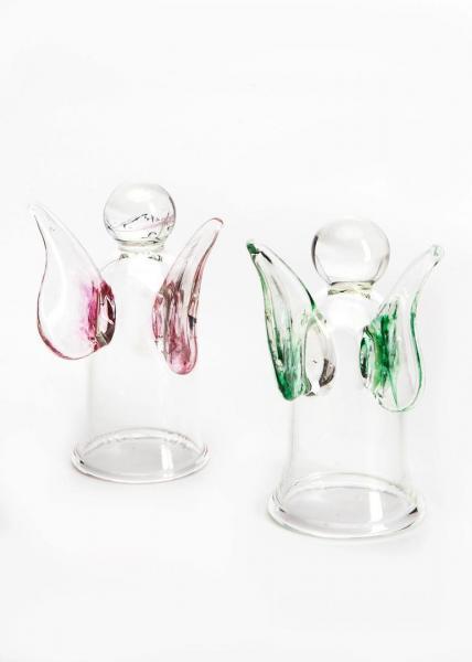 Engelsglas / Schnapsengel - Kristall/Grün BC-EG-GR