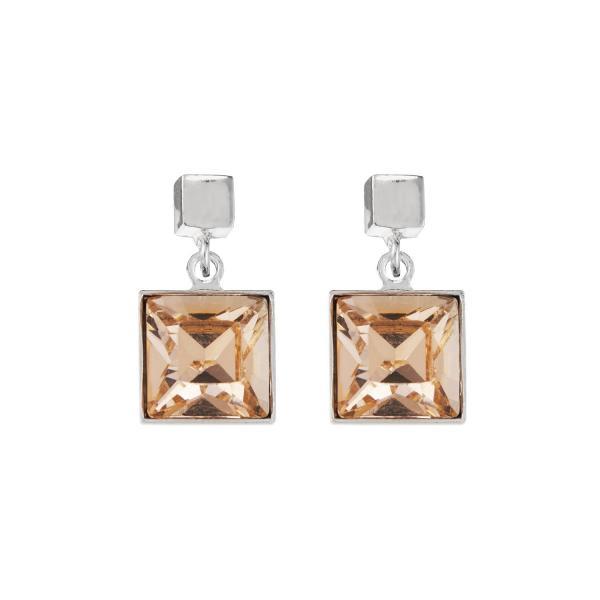 Ohrringe Swarovski® Kristalle peach 0080_21-0225