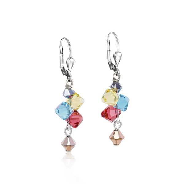 Ohrringe Swarovski® Kristalle & Edelstahl multicolor pastell 1