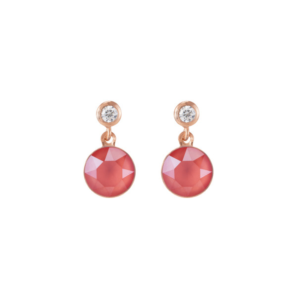 Ohrringe Swarovski® Kristalle & Edelstahl roségold koralle 0078_21-0323