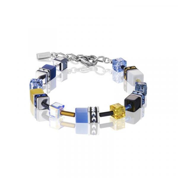 GeoCUBE® Armband blau-gelb