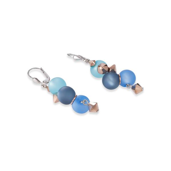 Ohrringe Polaris, Swarovski® Kristalle & Edelstahl türkis-blau