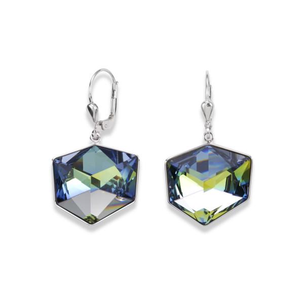 Ohrringe Swarovski® Kristalle blau-grün