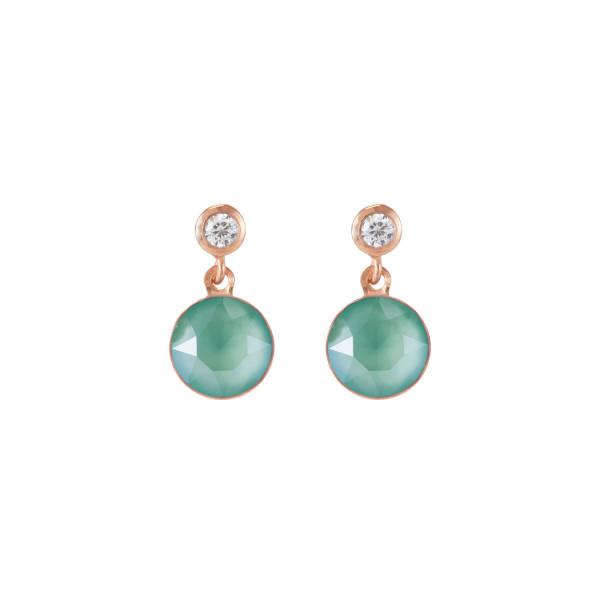 Ohrringe Swarovski® Kristalle & Edelstahl roségold mintgrün