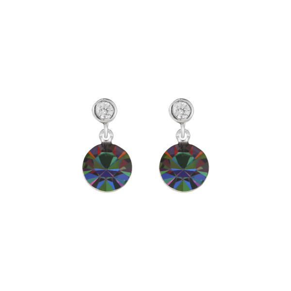 Ohrringe Swarovski® Kristalle & Edelstahl multicolor metallic