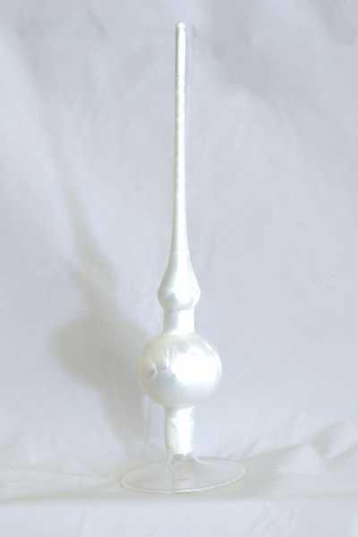 Eisweiss Uni Spitze mit 6er Kugel (H:28cm)