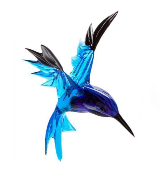 Türkisnaschvogel aus Glas zum Hängen BC-TNV