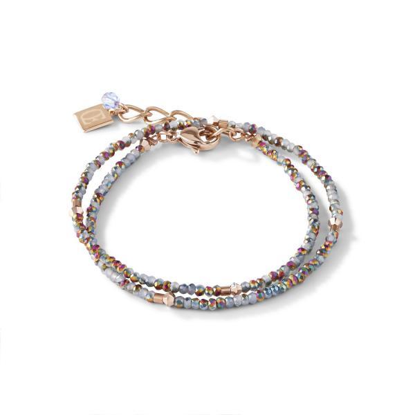 Armband small crystal roségold & hellblau