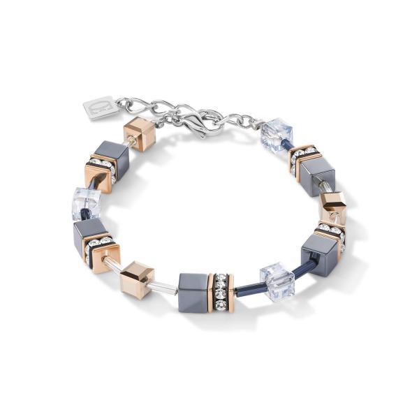 GeoCUBE® Armband eisblau 4015_30-0730