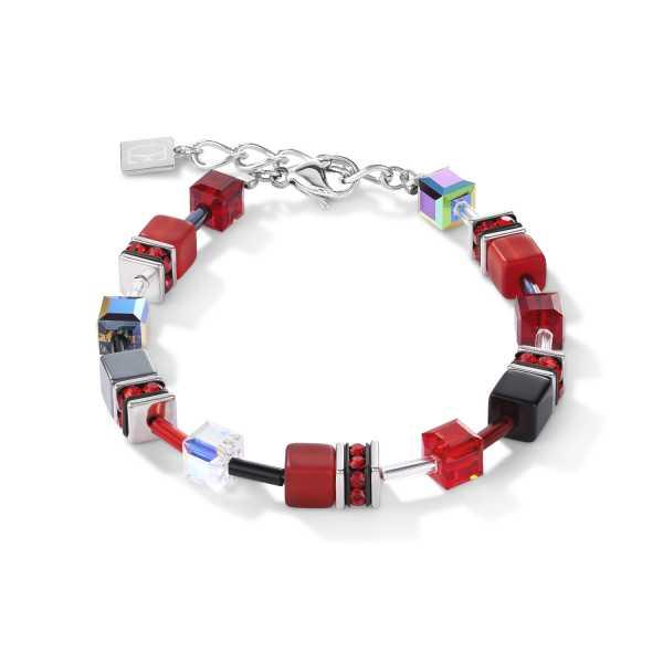 GeoCUBE® Armband rot-hämatit