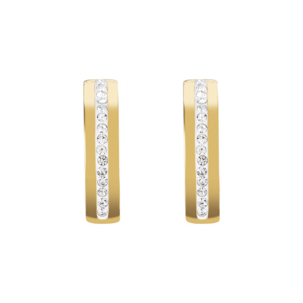 Ohrringe Edelstahl gold & Kristall Pavé Streifen kristall 0326_21-1800