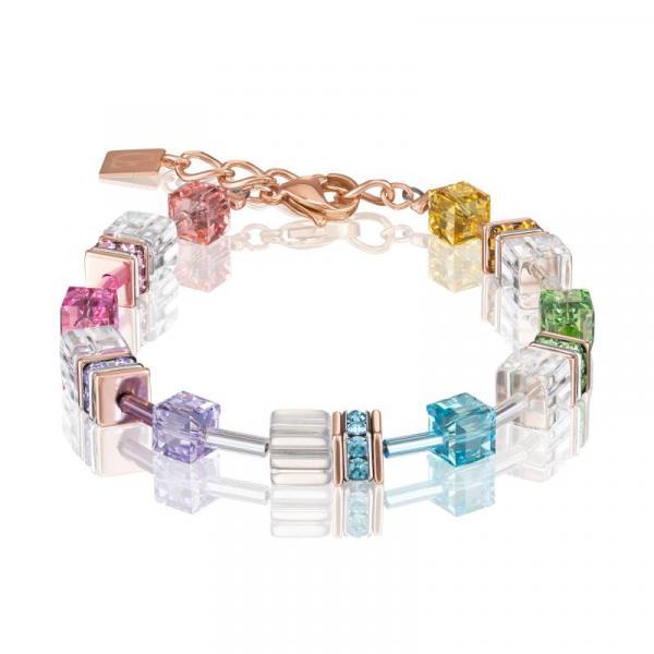 GeoCUBE® Armband multicolor-kristall