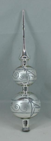 Silber Spitze mit 8er und 7er Kugel (H:32cm) SI_SP87