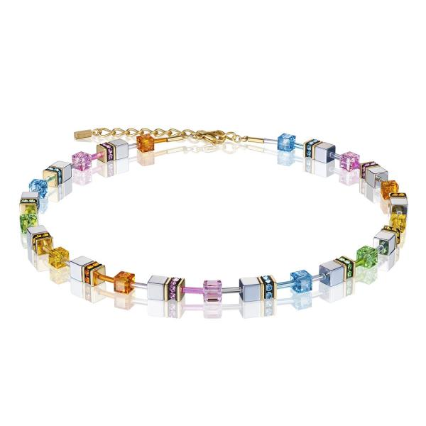 GeoCUBE® Halskette multicolor pastell 1