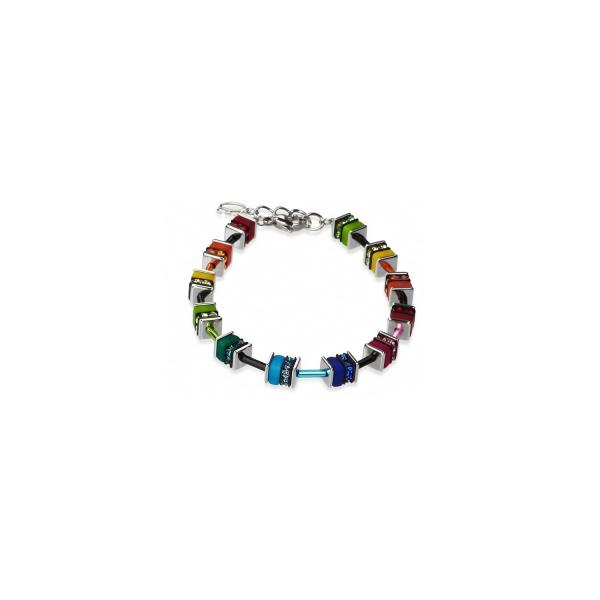 GeoCUBE® Armband classic Polaris & Strass multicolor