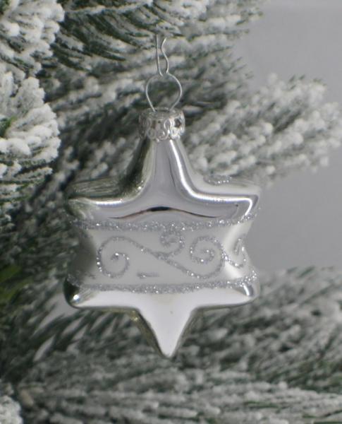 Silber Sterne 5cm 4er Set