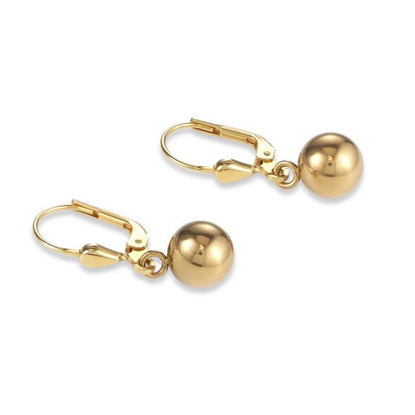 Ohrringe Hämatit silber & Edelstahl gold