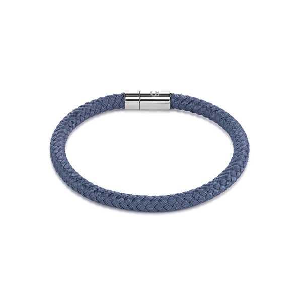 Armband Textil Magnetverschluß blau-grau