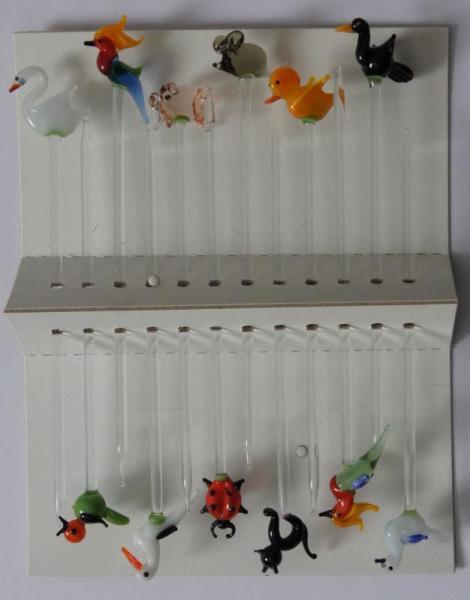 Bowlespieß Tiere (2) bunt sortiert 12er Set