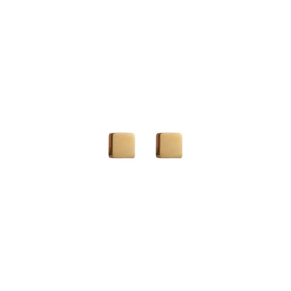Ohrringe Quadrat Edelstahl gold 0400_21-1600