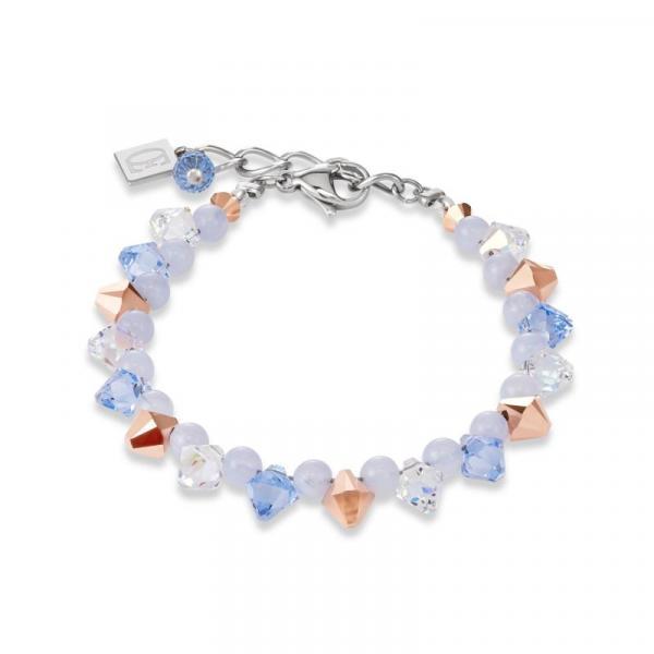 Armband Swarovski® Kristalle & Chalzedon hellblau