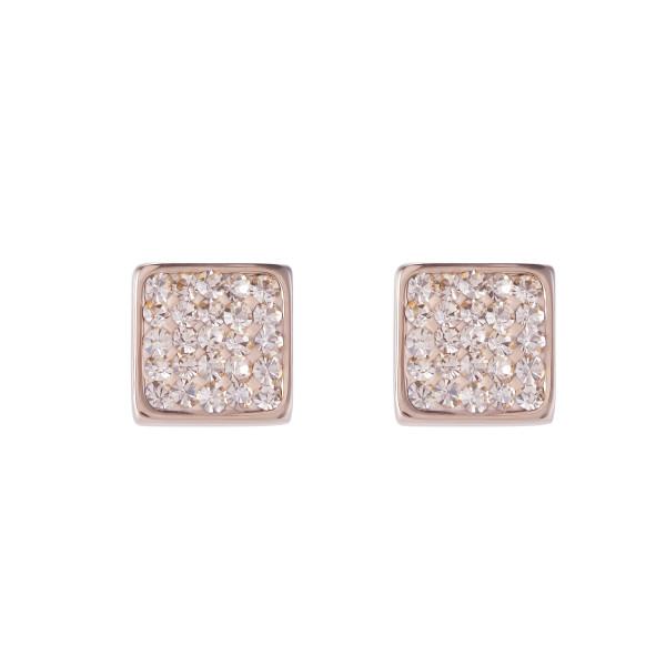 Ohrringe Edelstahl rosegold & Kristalle Pavé peach 0217_21-0225