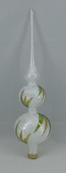 Eisweissgrün Spitze mit 8er und 7er Kugel (H:38cm) EWG_SP87