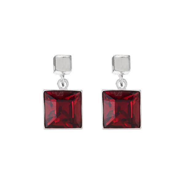 Ohrringe Swarovski® Kristalle rubin