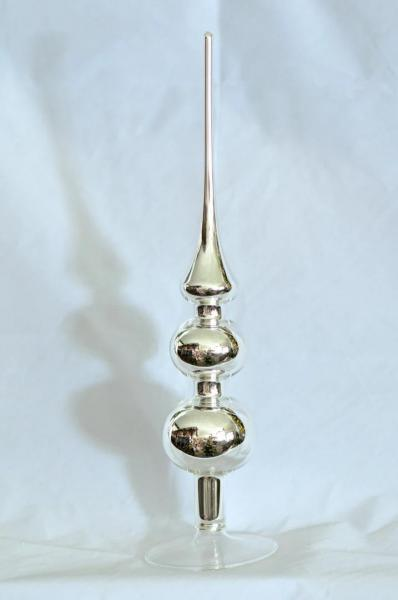 Silber Uni Spitze mit 6er und 5er Kugel (H:31cm) SIU_SP65