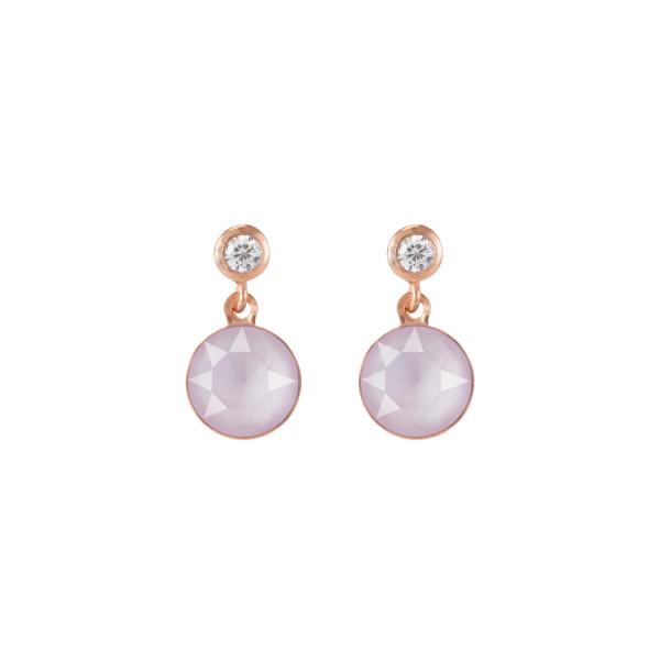 Ohrringe Swarovski® Kristalle & Edelstahl roségold hellrosa