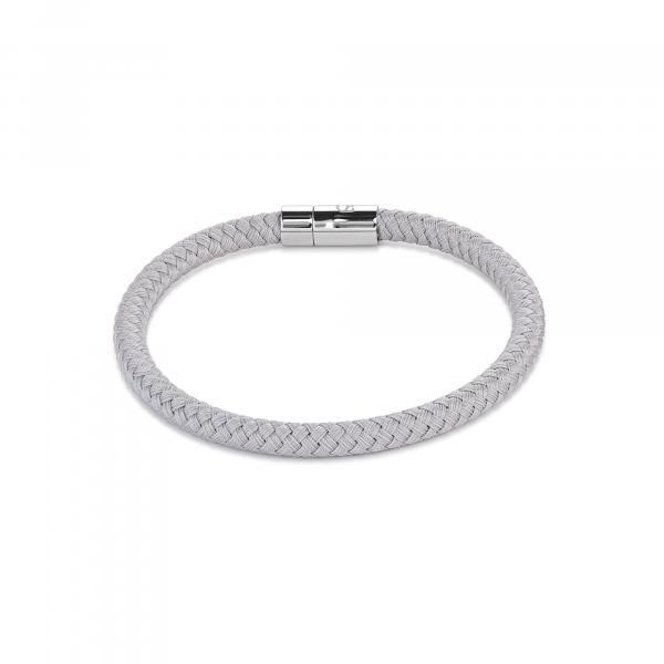 Armband Textil Magnetverschluß silbergrau 0115_31-1220